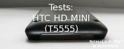 Tests: HTC HD Mini (T5555)