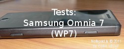 Tests: Samsung Omnia 7 ar Windows Phone 7